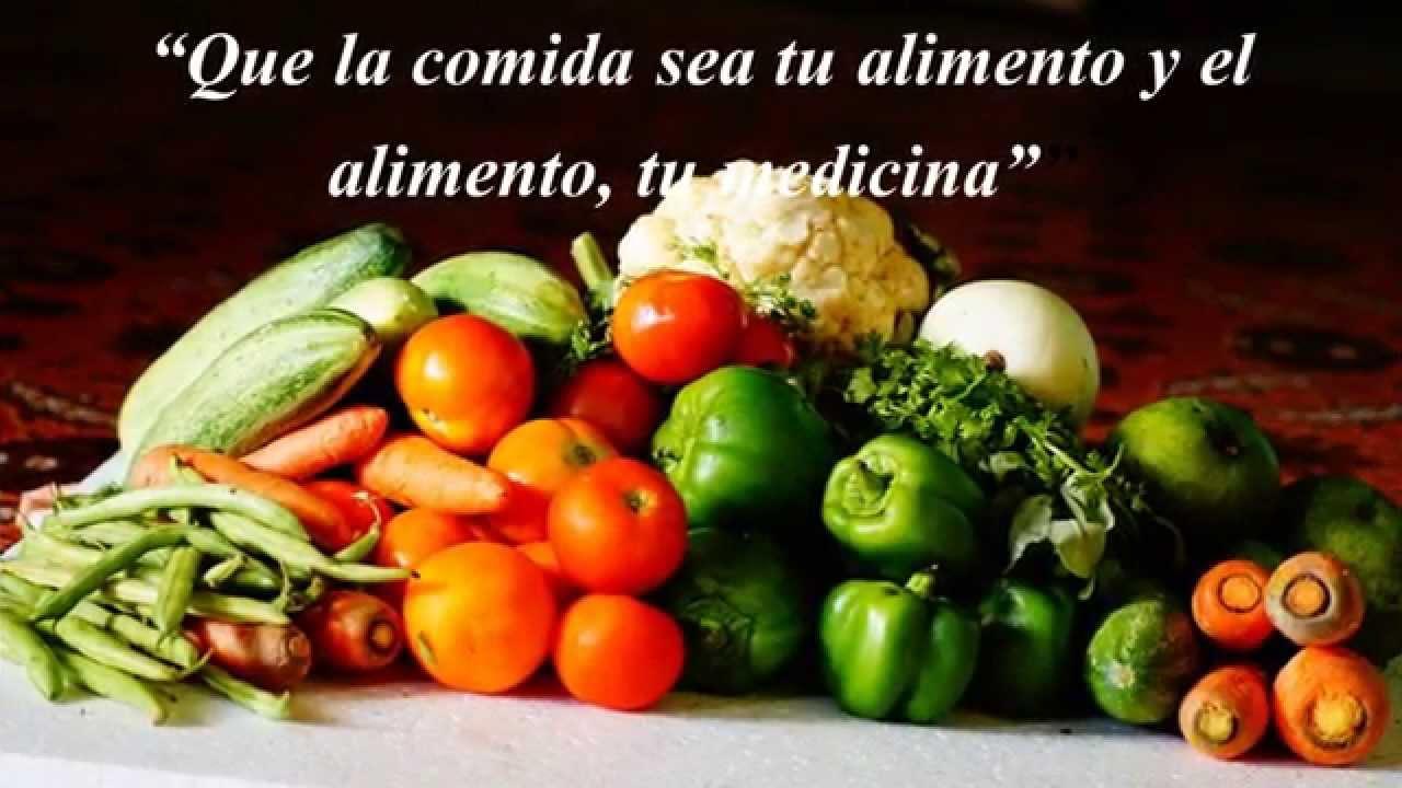 Comida Saludable Con Frutas Verduras Y Hierbas Youtube