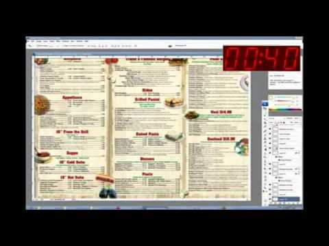 How to make restaurant menu design within 2 hours - YouTube - how to make a menu for a restaurant