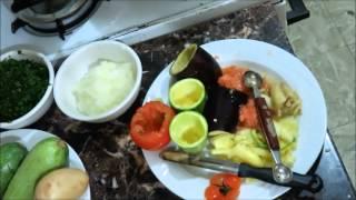 Stuffet vegetables  egyptian recipe Mahshi  with meat Фаршированные овощи по египетски Махши с мясом