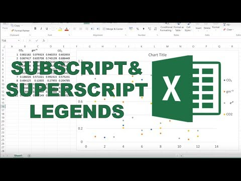 How To Add Subscripts And Superscripts Into Legends In Excel