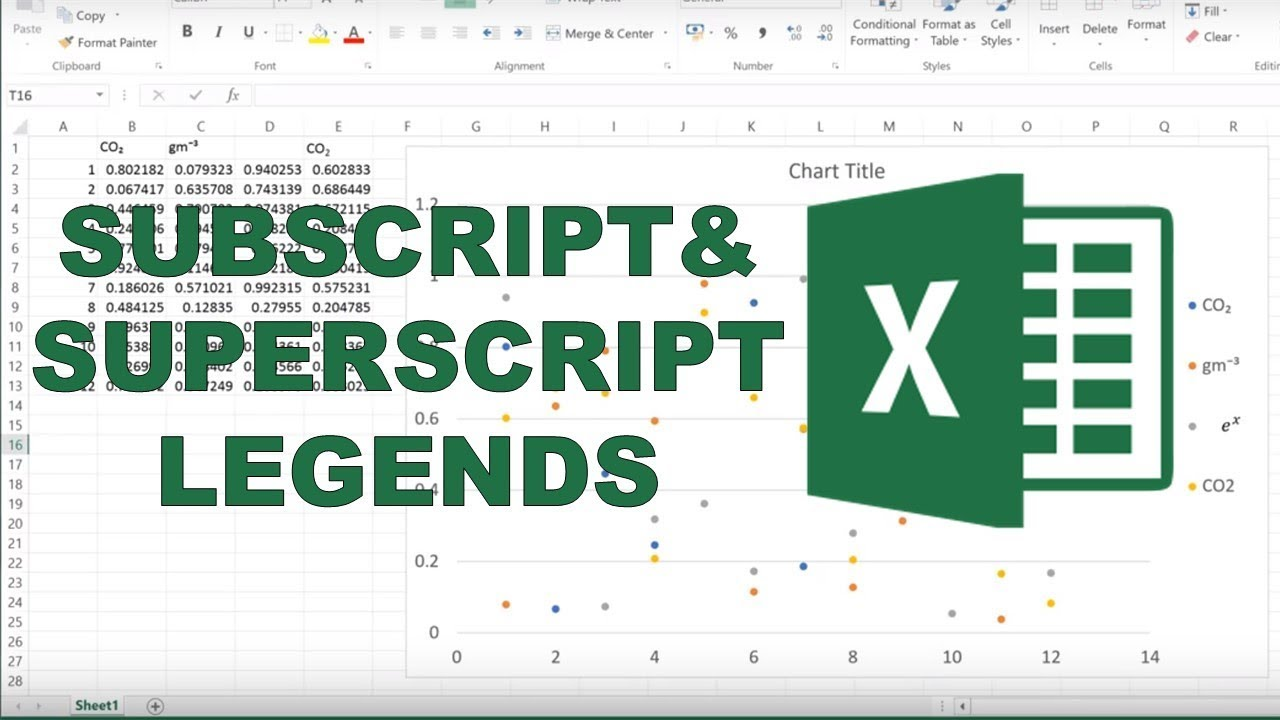 Exceltutorial exceltipsandtricks excelcharts also how to add subscripts and superscripts into legends in excel youtube rh
