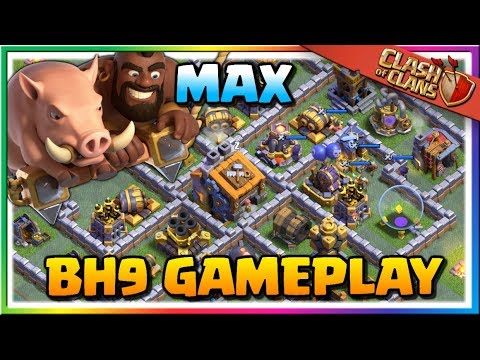 MAX Builder Hall Level 9 GAMEPLAY! New Hog Glider Troop Attacks | Clash Of Clans Update!