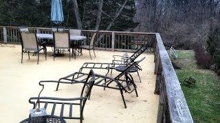 Flat Roof Fiberglass Deck Philadelphia Video By Bob Wewer