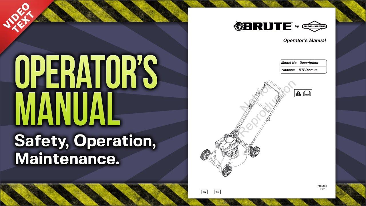 briggs stratton 7800583 manual