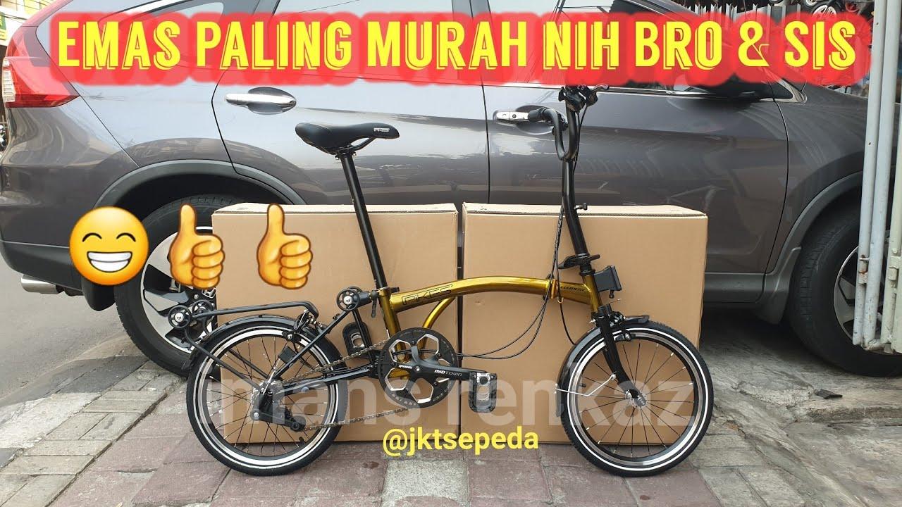 Sepeda Lipat Element Pikes 3s Gold Warna Sultan Youtube