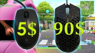5$ Mouse Vs. 90$ Mouse: Fortnite Battle Royale