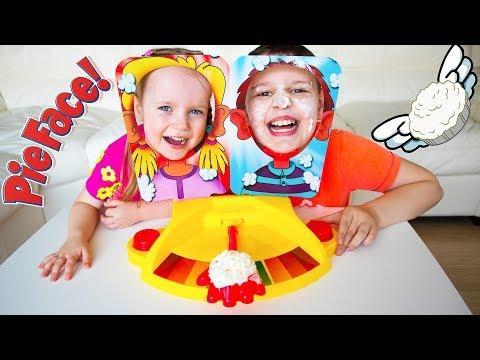 PIE FACE SHOWDOWN CHALLENGE. Fun Family Playtime