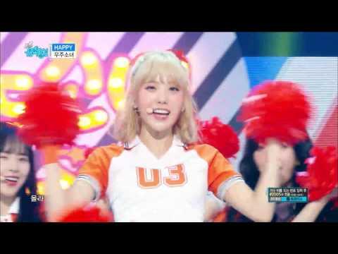 【TVPP】 WJSN – Happy, 우주소녀 – 해피 @Comeback Stage, Show Music Core