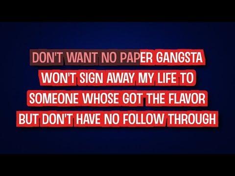 Paper Gangsta - Lady Gaga | Karaoke LYRICS