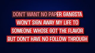 Paper Gangsta - Lady Gaga | Karaoke LYRICS