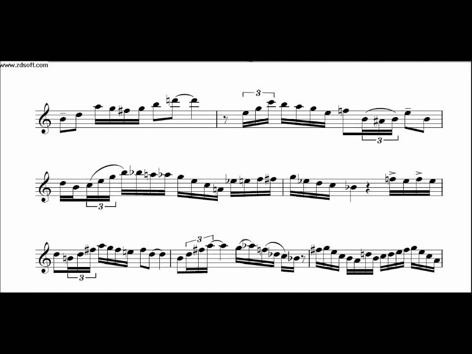 Jazz Saxophone Transcriptions