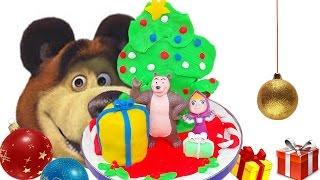 Masha ve Ayı Play doh oyuncaklar Noel hediyeleri karikatür esinlenerek