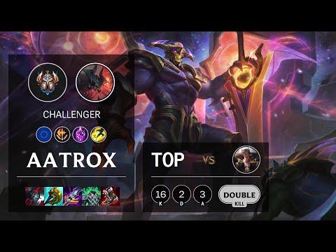 Aatrox Top vs Sett - EUW Challenger Patch 10.23