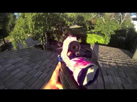 (HD 1080p) EPIC airsoft backyard war/battle