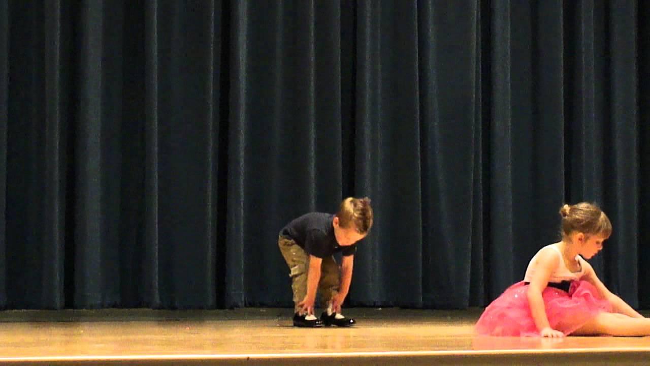 Young girls tap dancing were mistaken