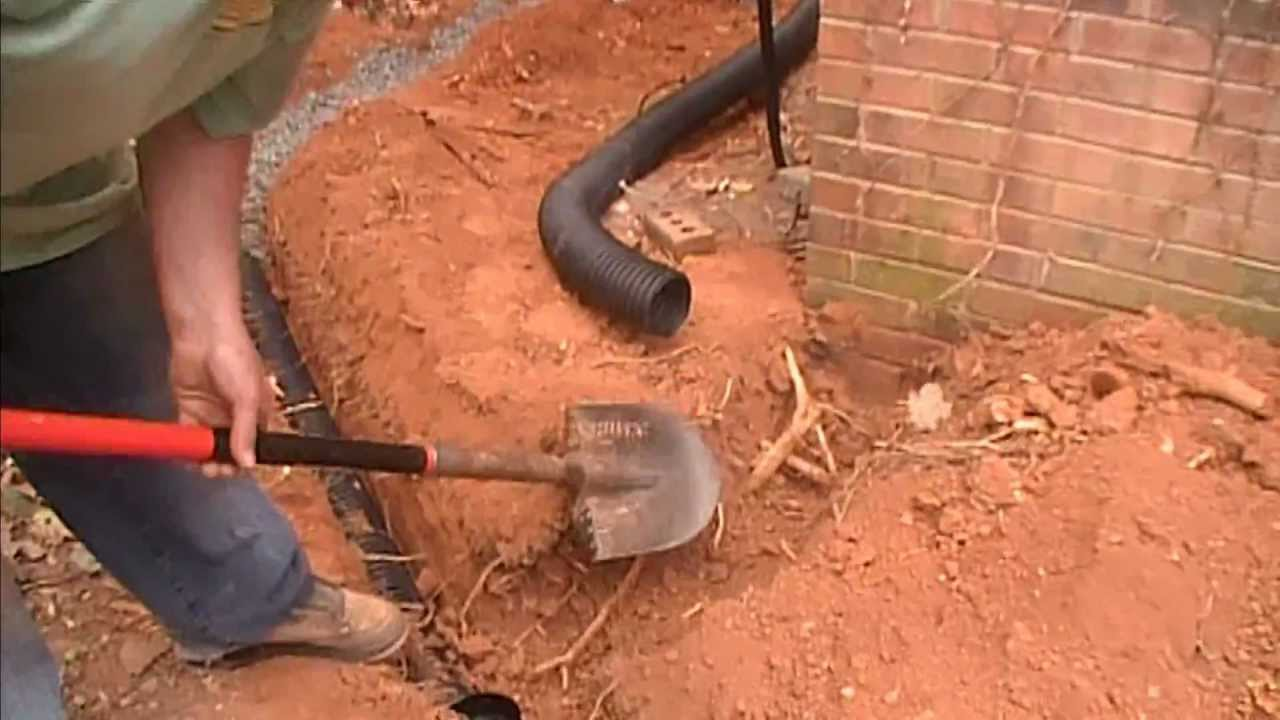 How To Trench Around A Gas Line French Drain With Catch