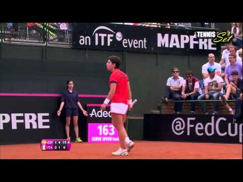 Carla Suarez Navarro vs Roberta Vinci Highlights HD Fed Cup 2016