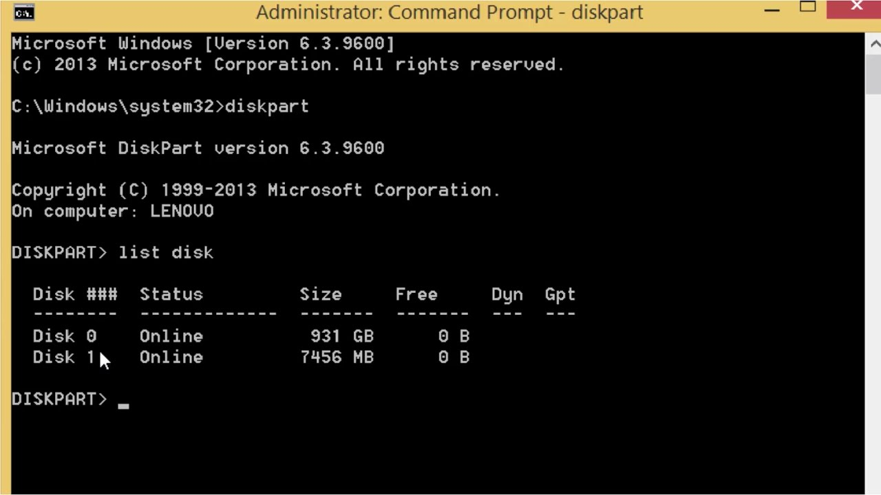 How To Delete Partition Or Format Of Flash Drive/Usb/Pendrive Using The Command Prompt CMD - YouTube