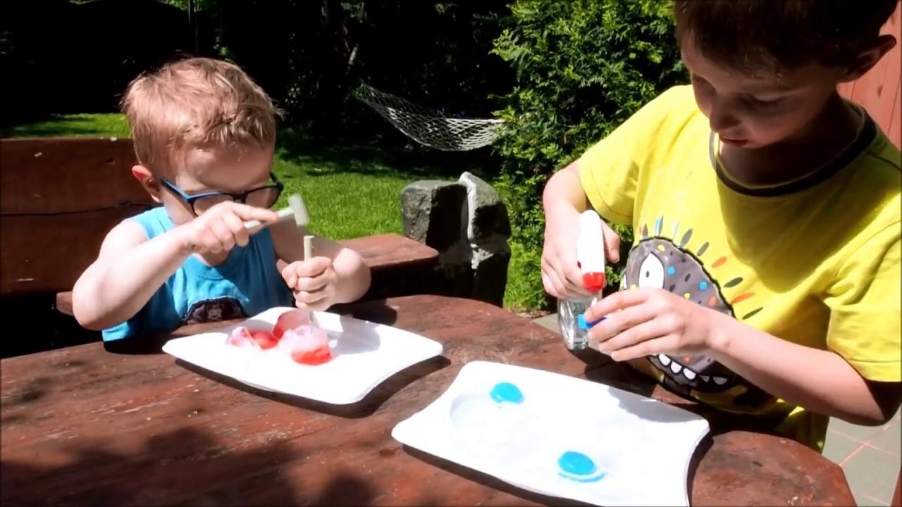Kreatywne zabawy dla dzieci zabawy z lodem  YouTube -> Kuchnia Dla Dzieci Z Ekspresem