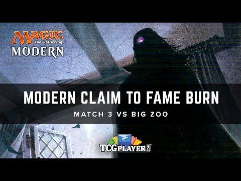 [MTG] Mining Modern - Claim to Fame Burn | Match 3 VS Big Zoo