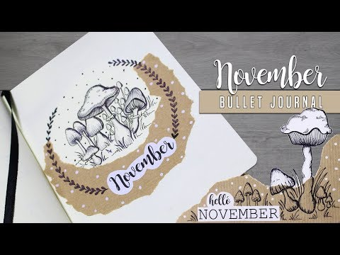Bullet Journal [MAGYAR] 2017 November + Sablon