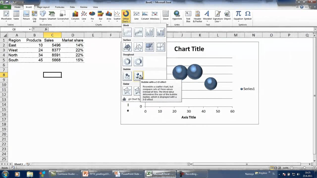 Excel Charting Labels On Bubble Chart Youtube