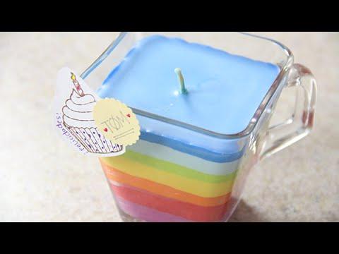 Como hacer velas arcoiris con crayolas craftingeek youtube - Como hacer velas ...