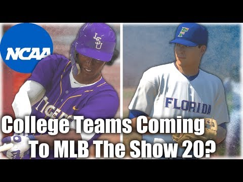 College Teams Finally Coming To MLB The Show 20?! Here's Why...