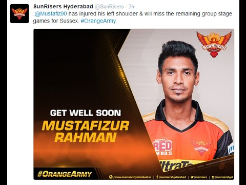 SunRisers Hyderabad tweet About TheFizz Mustafizur Rahman in Twitter