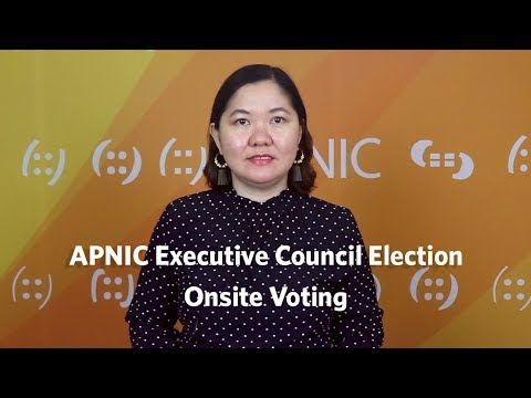 APNIC Executive Council Election - Onsite Voting