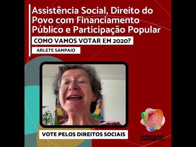 Vote pelos Direitos Sociais - ARLETE SAMPAIO