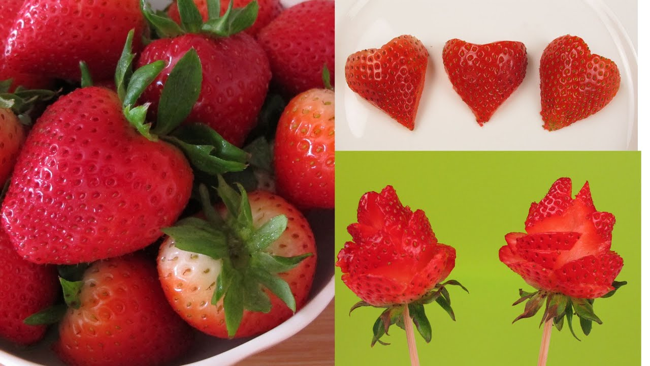 How To Cut Strawberry Fun With Strawberry Easy Way To Cut Heart