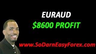EURAUD $8600 Profit - So Darn Easy Forex