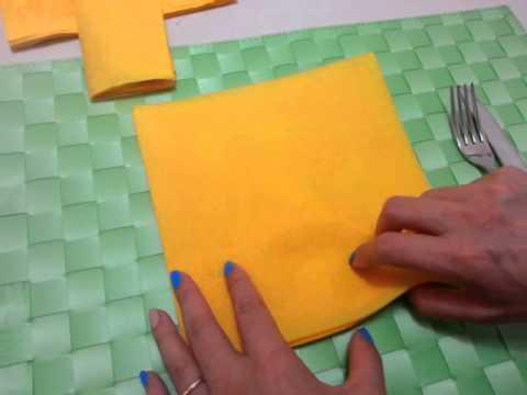 Piegare Asciugamani Forme : Diy come piegare i tovaglioli di carta tasca per posate youtube