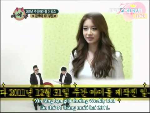 [Vietsub][T7VN] 111231 Weekly Idol - Jiyeon