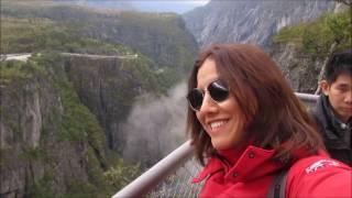 Voringfossen ,waterfall, Şelalesi (Fiyort Turu-5) with English Subtitle