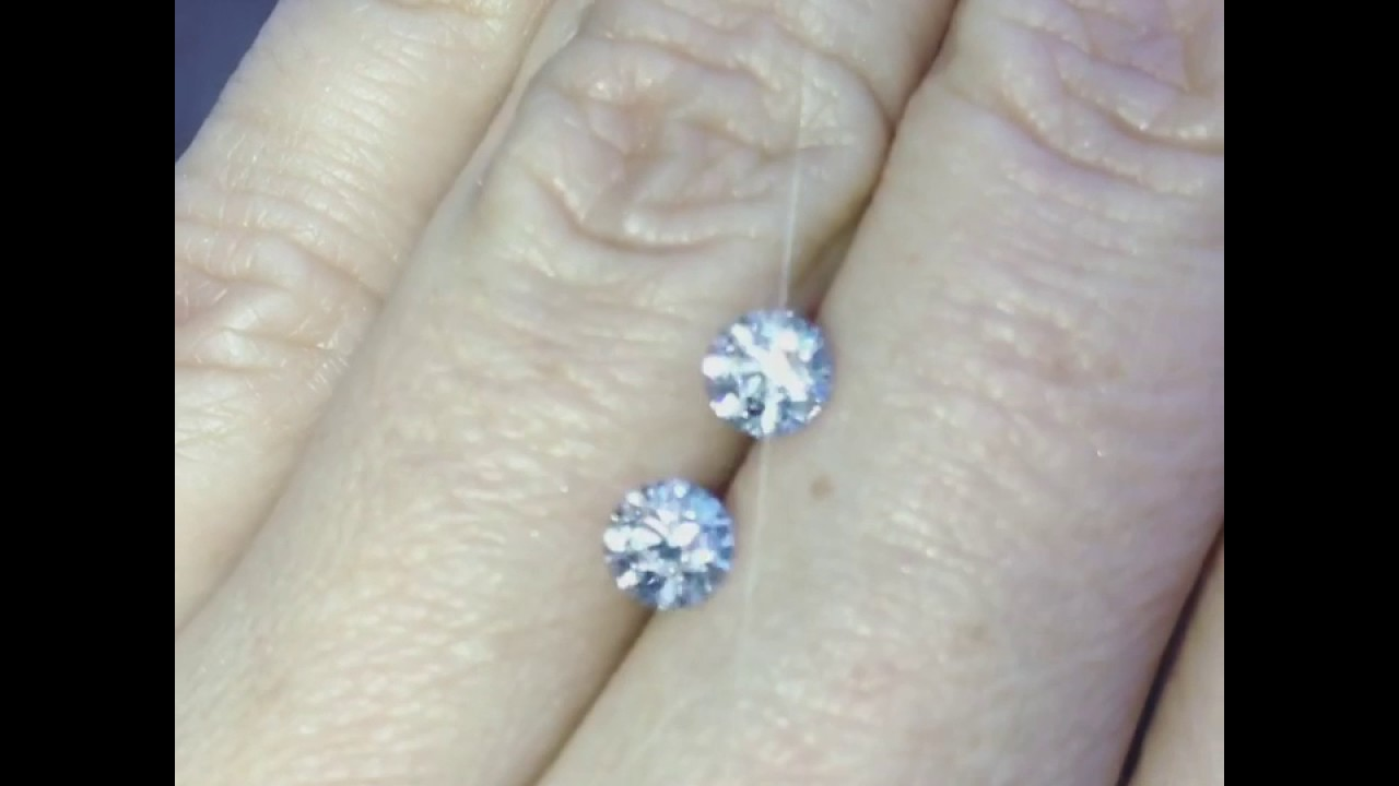 Half Carat Diamond Stud Earrings What Is The Size Of Half ...