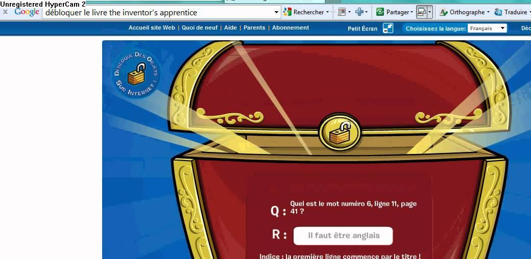 Comment d bloquer le livre the inventor 39 s apprentice club - Club penguin gratuit ...