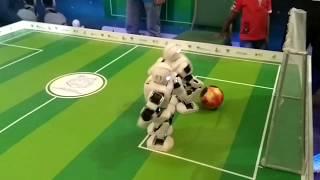 Robot playing football   Ict fair  Robot dance   robot nach  