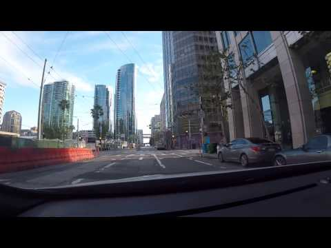 Driving in downtown San Francisco