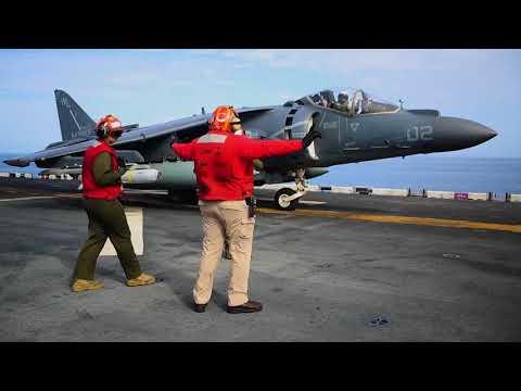 Marine AV-8B Harriers Fire 'Maverick' Missile