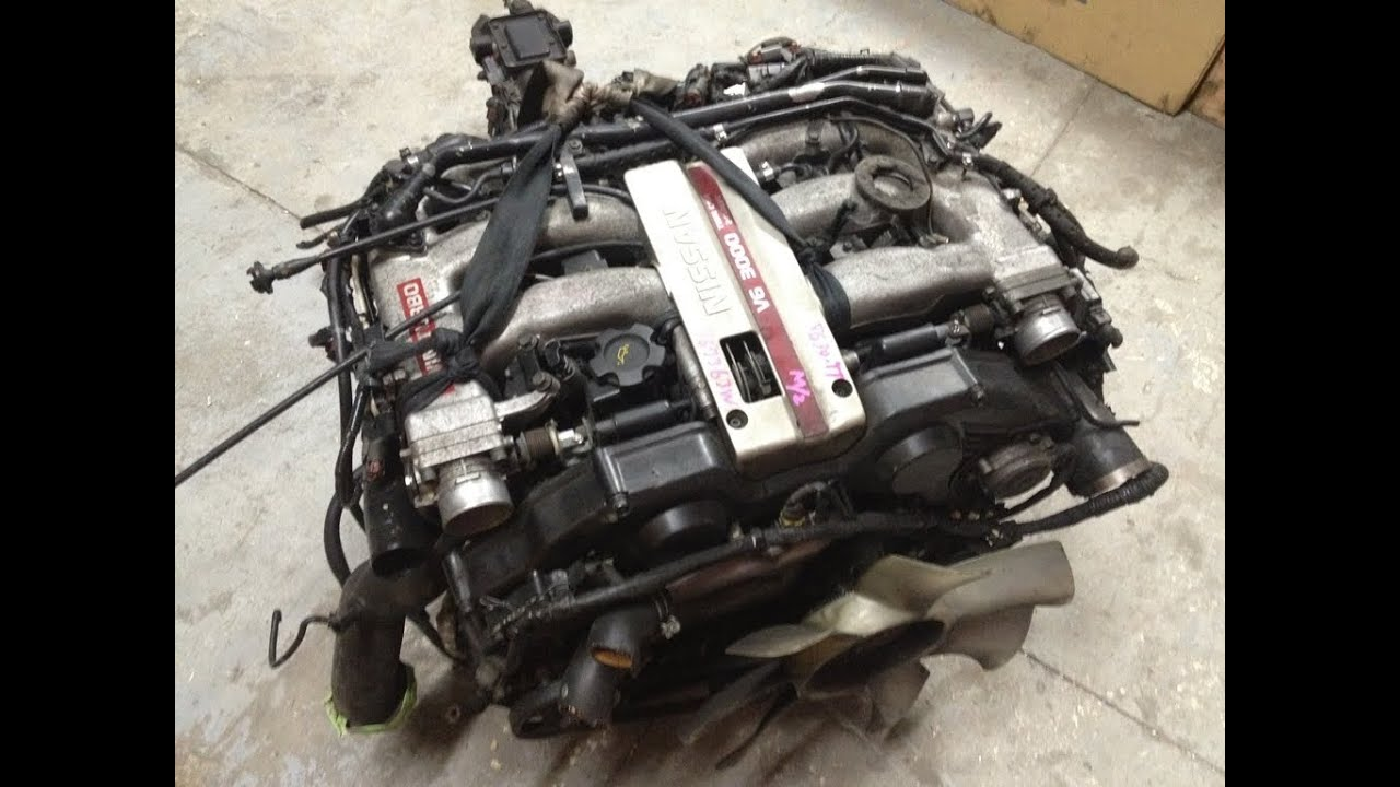 Jdm nissan fairlady z32 vg30 dett engine 5 speed transmission jdm nissan fairlady z32 vg30 dett engine 5 speed transmission ecu 300zx twin turbo motor swap youtube vanachro Images