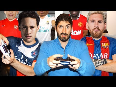 Thumbnail: PLAYING FIFA 18 WITH FOOTBALLERS ft. Neymar, Ronaldo, Messi, Pogba, Sanchez | Footy Friends