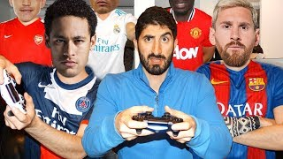 PLAYING FIFA 18 WITH FOOTBALLERS ft. Neymar, Ronaldo, Messi, Pogba, Sanchez | Footy Friends