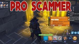 PRO Scammer Scammed Himself (Scammer Gets Scammed) Fortnite Save The World