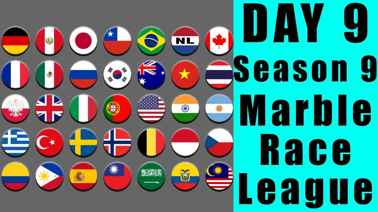 Marble Race League 2020 Season 9 Day 9 Marble Point Race in Algodoo / Marble Race King