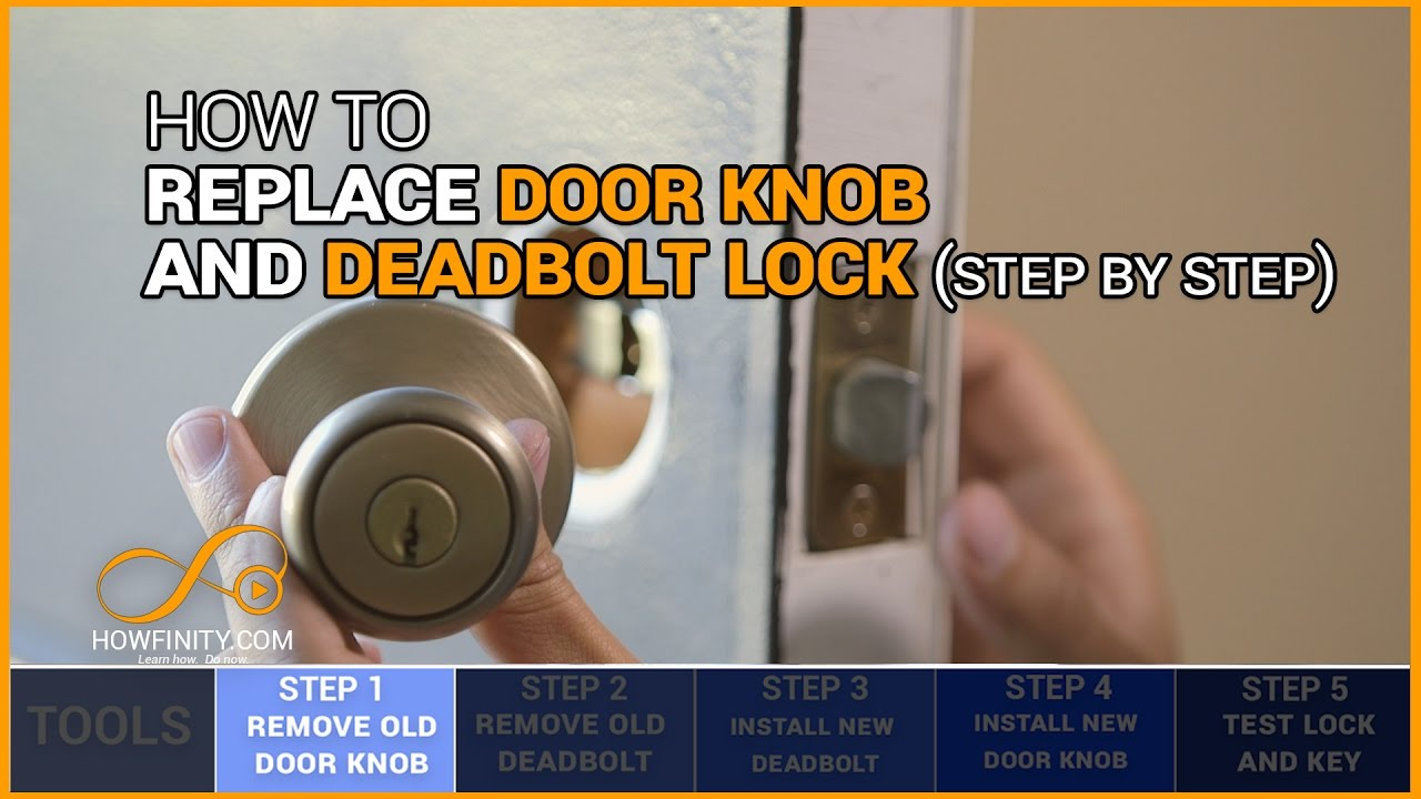 How to replace a door knob and deadbolt lock-step by step - YouTube