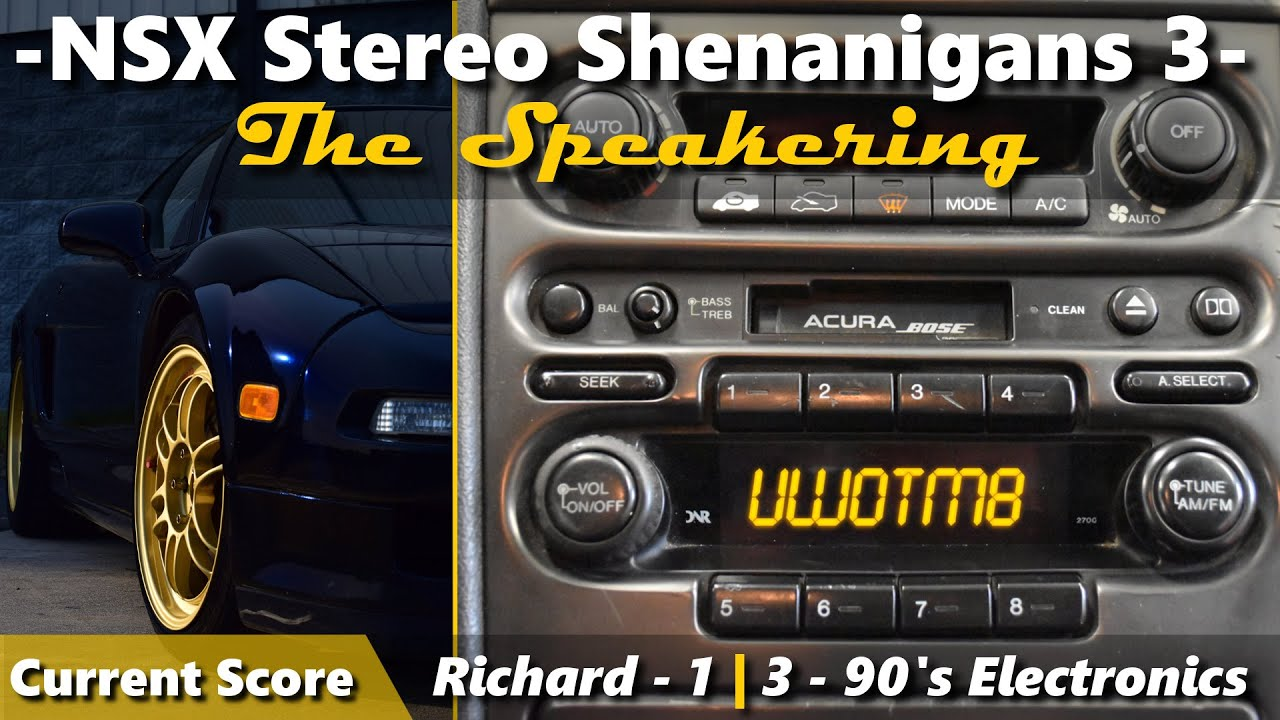 NSX Stereo Repair: Round 3 - head unit removal and speaker test - YouTube | Acura Nsx Stereo Wiring |  | YouTube