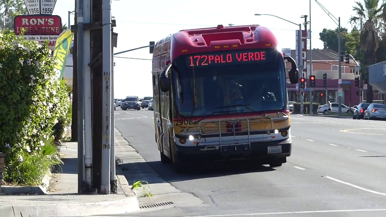 ca long beach transit: 2009 new flyer ge40lfa route 172 bus #2908 at