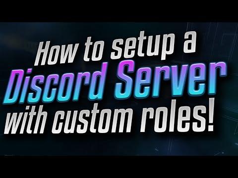How to setup a Discord server with custom roles